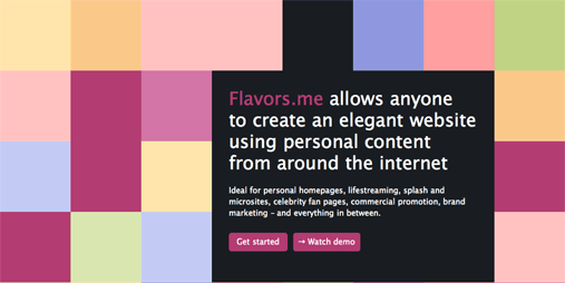 Flavors.me - create your own mini site!